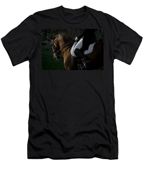 Men's T-Shirt (Slim Fit) featuring the photograph Dressage D5284 by Wes and Dotty Weber