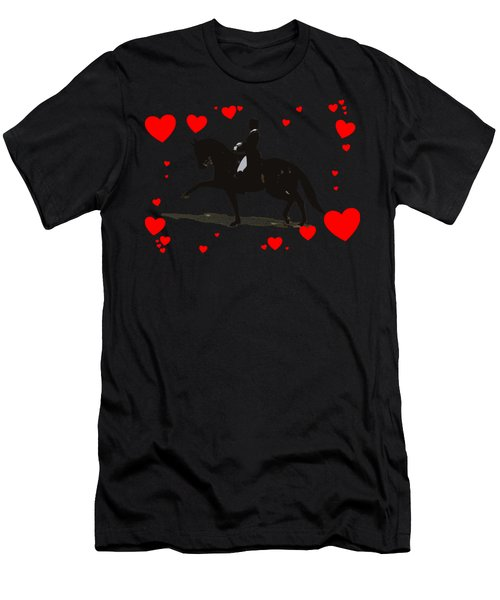 Dressage With Hearts Men's T-Shirt (Athletic Fit)