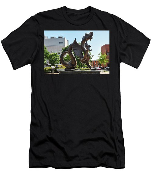 Men's T-Shirt (Athletic Fit) featuring the photograph Drexel University Dragon - Philadelphia Pa by Bill Cannon