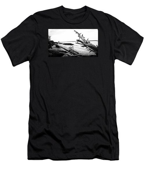 Men's T-Shirt (Slim Fit) featuring the painting Drift  by Amy Sorrell
