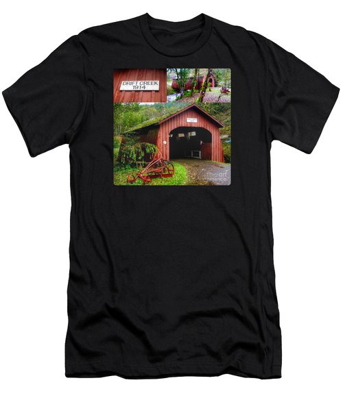Drift Creek Covered Bridge Men's T-Shirt (Athletic Fit)