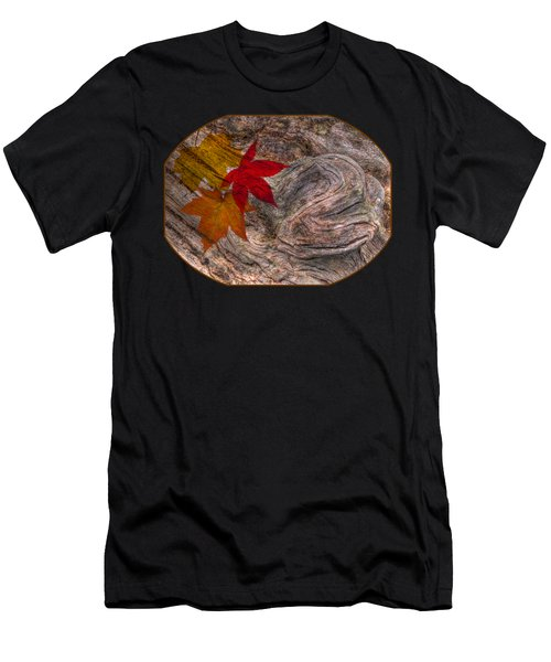 Drifting Autumn Leaves Men's T-Shirt (Athletic Fit)