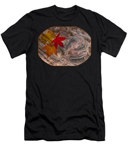 Drifting Autumn Leaves Men's T-Shirt (Athletic Fit)