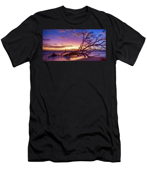 Driftwood Beach 1 Men's T-Shirt (Athletic Fit)