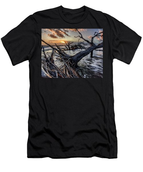 Driftwood Beach 4 Men's T-Shirt (Athletic Fit)