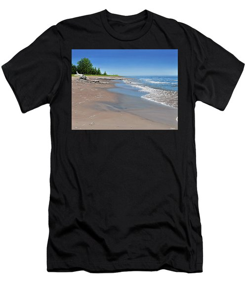 Driftwood Beach Men's T-Shirt (Athletic Fit)