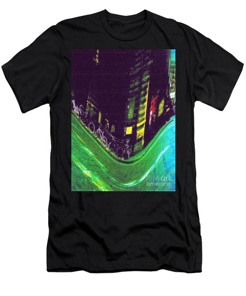 Driving By - Night Time In Bologna Men's T-Shirt (Athletic Fit)
