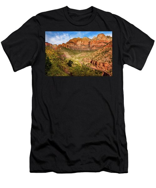 Men's T-Shirt (Athletic Fit) featuring the photograph Driving Into Zion by John Hight