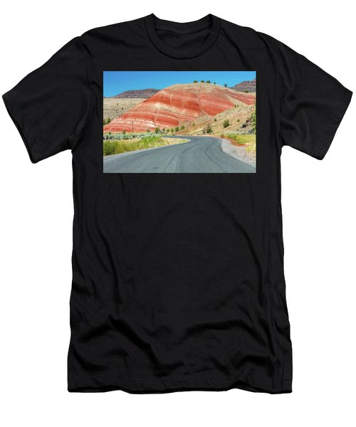 Men's T-Shirt (Athletic Fit) featuring the photograph Driving To Painted Hills by Pierre Leclerc Photography