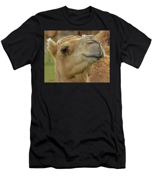 Men's T-Shirt (Athletic Fit) featuring the digital art Dromedary Or Arabian Camel by Larry Linton