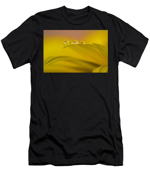 Drops Resting On A Leaf Men's T-Shirt (Athletic Fit)