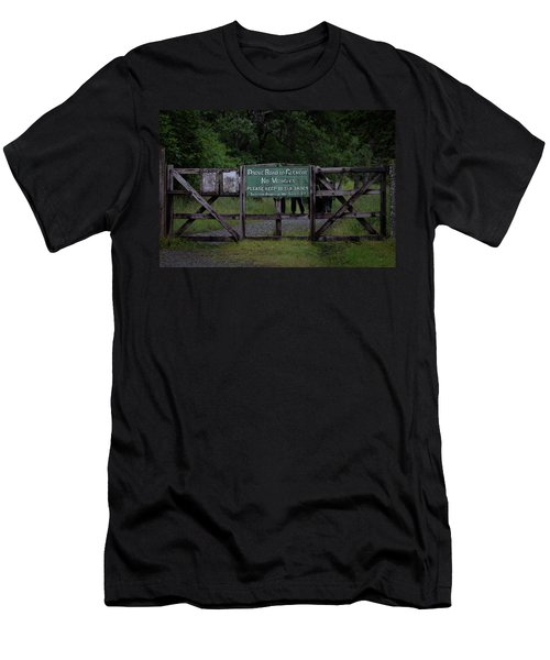 Men's T-Shirt (Athletic Fit) featuring the photograph Drove Road To Glen Coe by RKAB Works