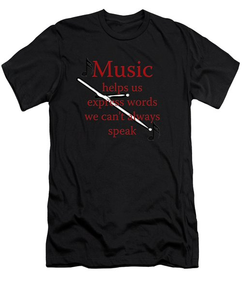 Drum Music Helps Us Express Words Men's T-Shirt (Athletic Fit)