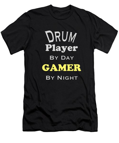 Drum Player By Day Gamer By Night 5624.02 Men's T-Shirt (Athletic Fit)