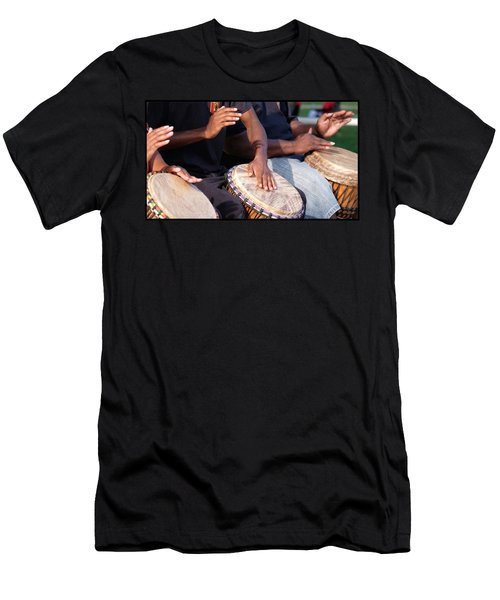 Drum Rhythm Men's T-Shirt (Athletic Fit)