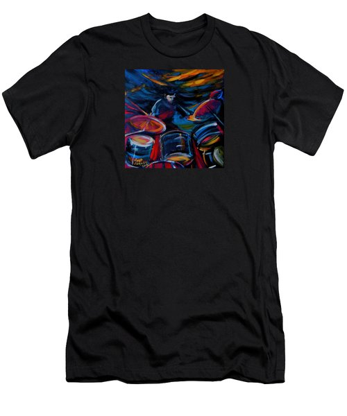 Drummer Craze Men's T-Shirt (Slim Fit) by Jeanette Jarmon