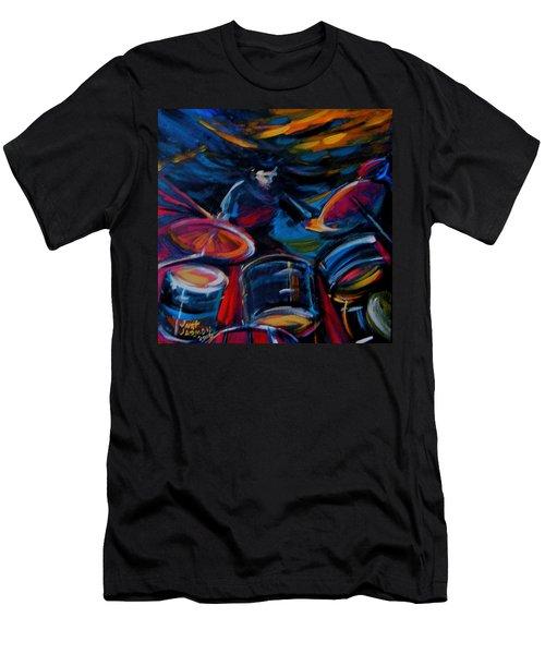 Drummer Craze Men's T-Shirt (Athletic Fit)