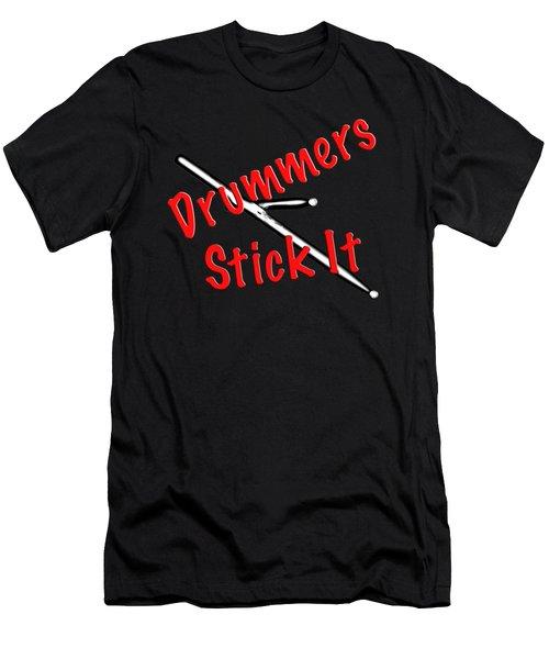 Drummers Stick It Men's T-Shirt (Athletic Fit)