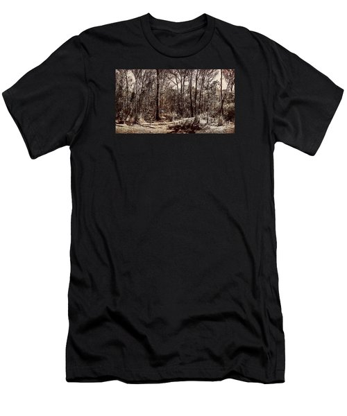 Men's T-Shirt (Athletic Fit) featuring the photograph Dry Autumn Landscape Of A Vintage Woodland by Jorgo Photography - Wall Art Gallery
