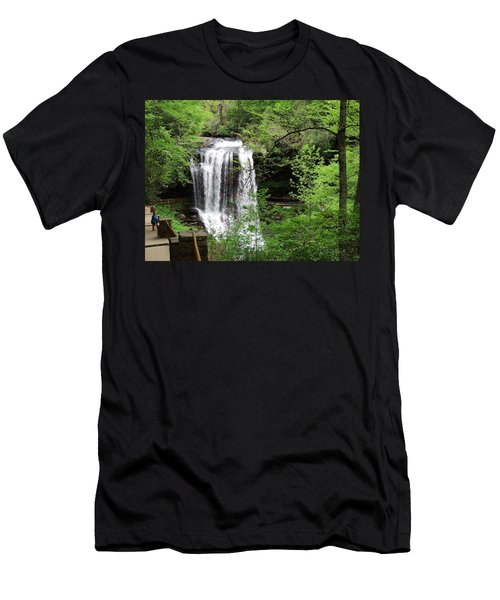 Dry Falls In The Spring Men's T-Shirt (Athletic Fit)