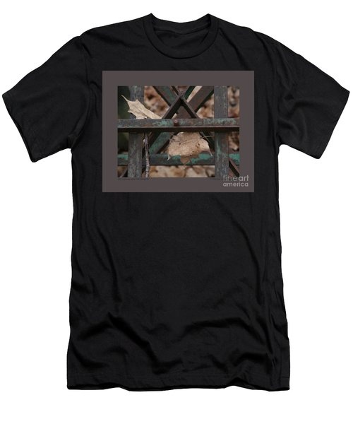 Dry Leaves And Old Steel-iii Men's T-Shirt (Slim Fit) by Patricia Overmoyer