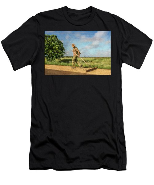 Drying Rice Men's T-Shirt (Athletic Fit)