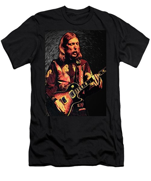 Men's T-Shirt (Athletic Fit) featuring the digital art Duane Allman by Taylan Apukovska
