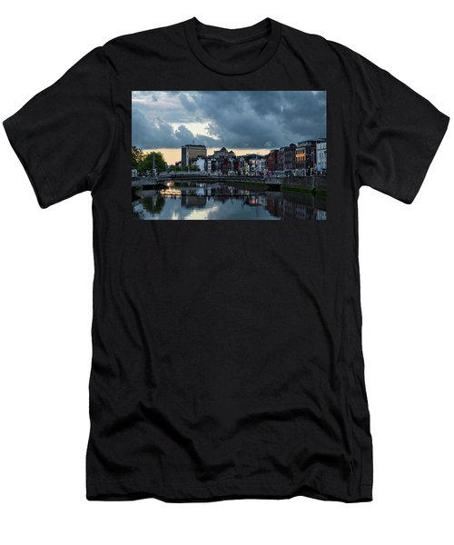 Dublin Sky At Sunset Men's T-Shirt (Athletic Fit)