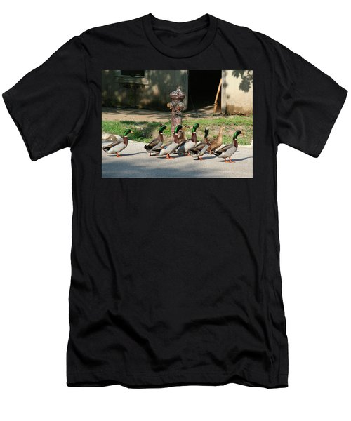 Duck And Hydrant Men's T-Shirt (Athletic Fit)