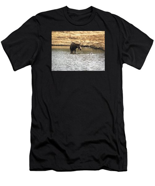 Men's T-Shirt (Athletic Fit) featuring the photograph Ducks - Moose Rollinsville Co by Margarethe Binkley