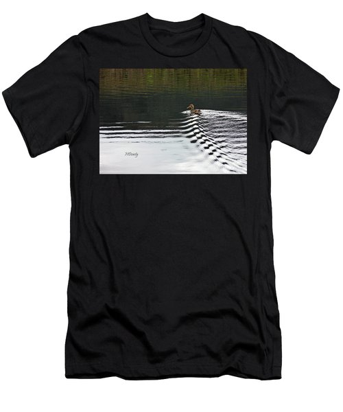Duck On Ripple Wake Men's T-Shirt (Athletic Fit)