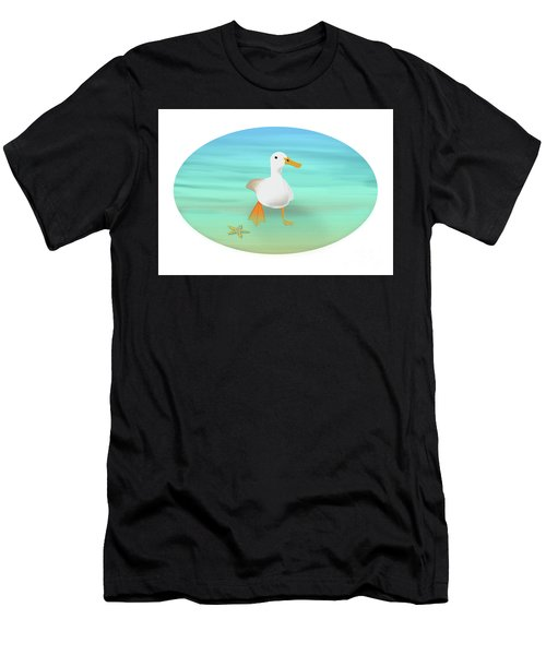 Duck Paddling At The Seaside Men's T-Shirt (Athletic Fit)