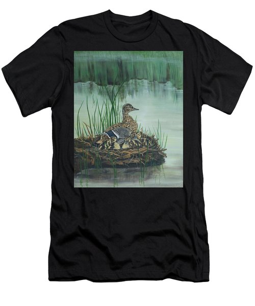 Ducks In Lifting Fog Men's T-Shirt (Athletic Fit)