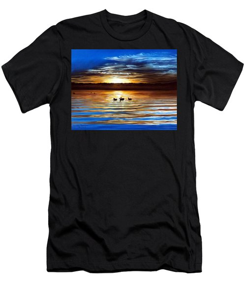 Ducks On Clear Lake Men's T-Shirt (Athletic Fit)