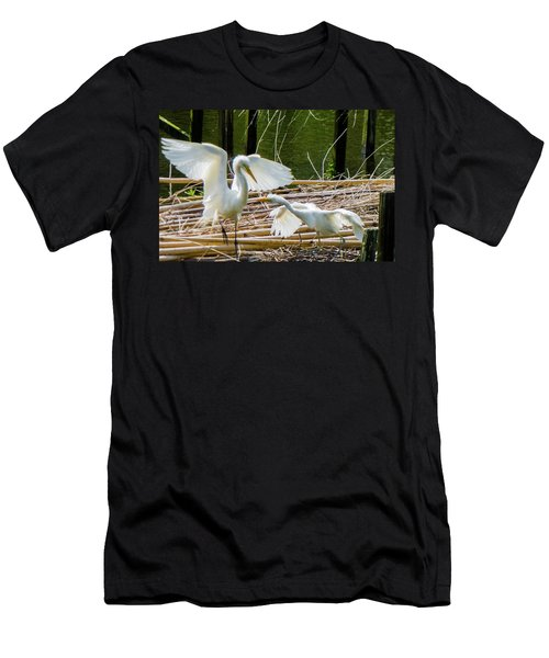 Dueling Bills Men's T-Shirt (Slim Fit) by Kimo Fernandez