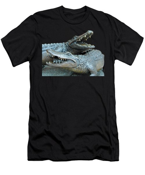 Dueling Gators Transparent For Customization Men's T-Shirt (Athletic Fit)