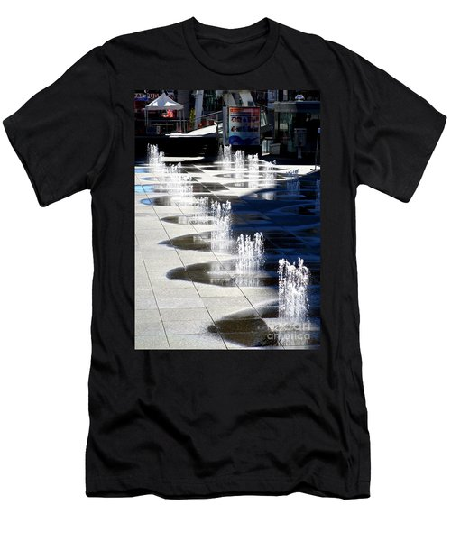 Dundas Square 1 Men's T-Shirt (Slim Fit) by Randall Weidner