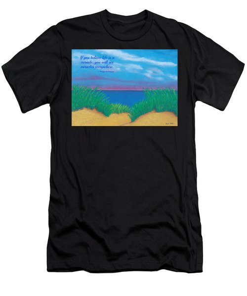 Dunes At Dawn - With Quote Men's T-Shirt (Athletic Fit)