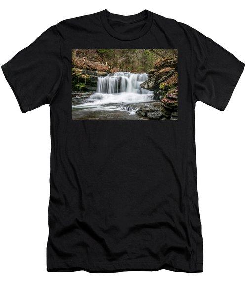 Dunloup Creek Falls Men's T-Shirt (Athletic Fit)