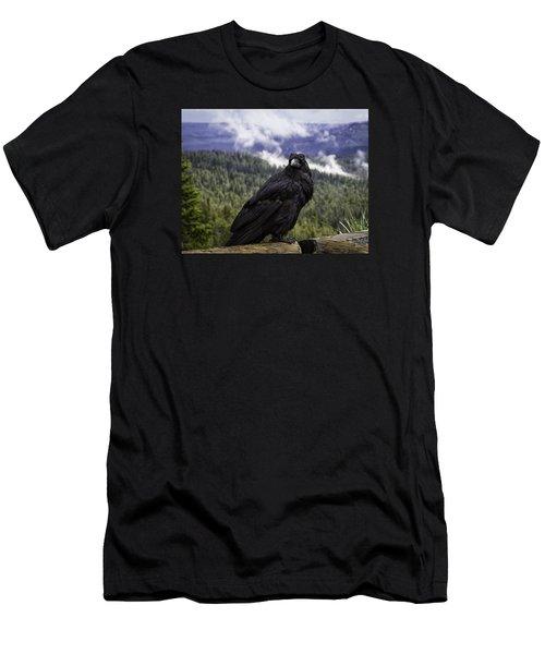 Dunraven Raven Men's T-Shirt (Slim Fit) by Elizabeth Eldridge