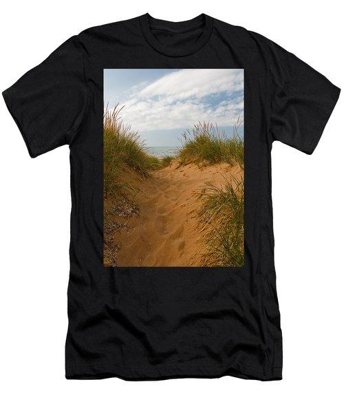 Nova Scotia's Cabot Trail Dunvegan Beach Dunes Men's T-Shirt (Athletic Fit)