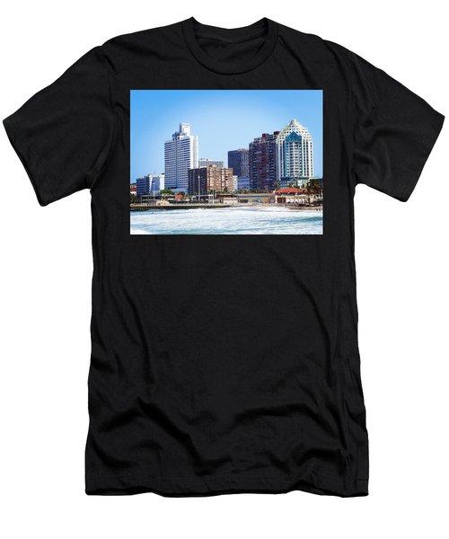 Durban Skyline From Bay Of Plenty Men's T-Shirt (Athletic Fit)