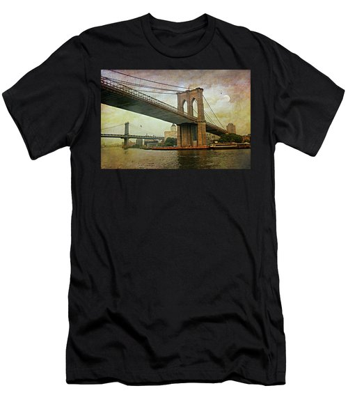 Dusk At The Bridge Men's T-Shirt (Slim Fit) by Diana Angstadt