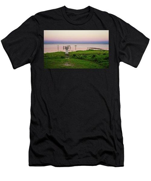 Dusk At Battle Point, Accomac, Virginia Men's T-Shirt (Athletic Fit)