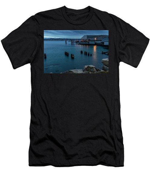Dusk Falls Over The Lobster Shop Men's T-Shirt (Athletic Fit)