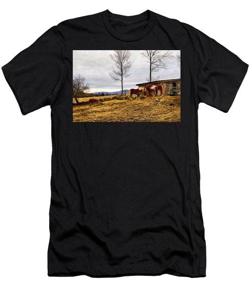 Dusk Feeding On The Farm Men's T-Shirt (Athletic Fit)