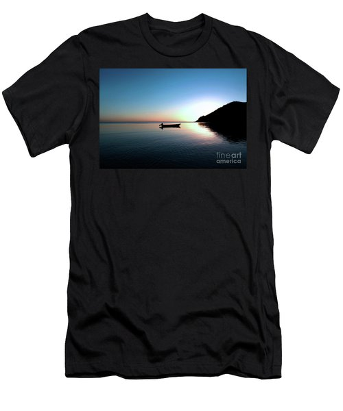 Dusk On The Island Of Korovou Fiji   Men's T-Shirt (Athletic Fit)