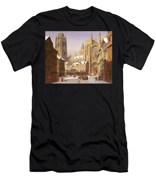 Dutch Cathedral Town Men's T-Shirt (Athletic Fit)