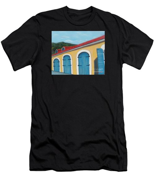 Dutch Doors Of St. Thomas Men's T-Shirt (Athletic Fit)
