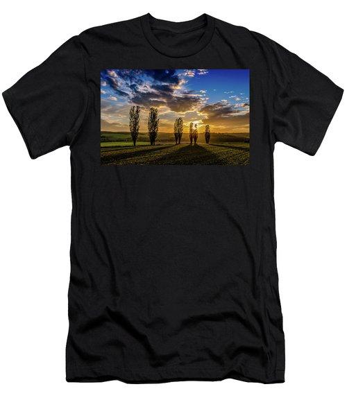 Dutch Moutains At Sunset Men's T-Shirt (Athletic Fit)